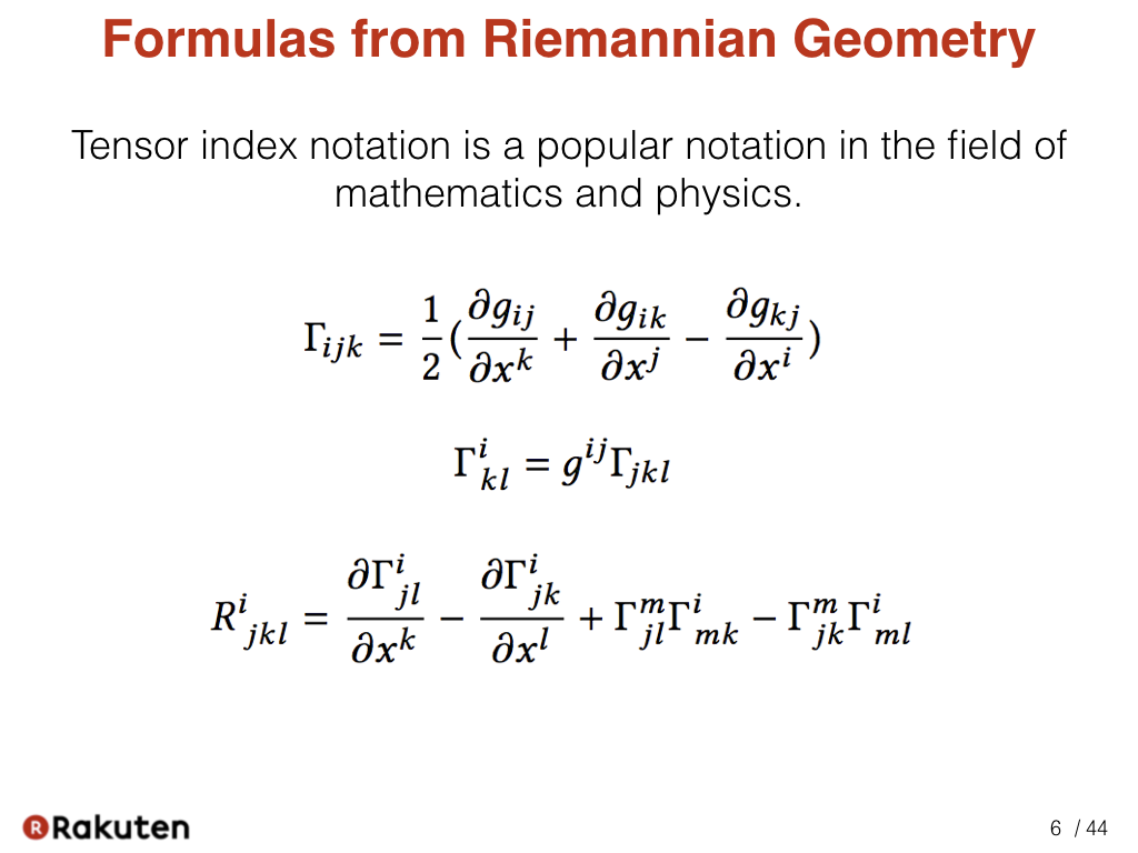 Egison blog scalar and tensor parameters for importing tensor tensor index notation is a popular notation in the field of mathematics and physics here are formulas from riemannian geometry we can see many indices are buycottarizona Images