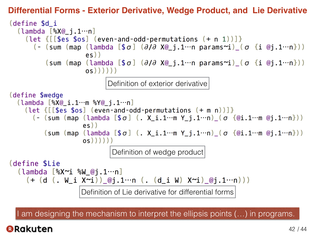 Here Is The Current Design That Represents The Definition Of Exterior  Derivative, Wedge Product, And Lie Derivative. In Order To Describe Them,  ...